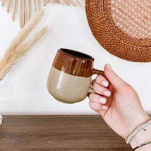 Vintage Earthy 3 Tone Boho Coffee Mug Cup